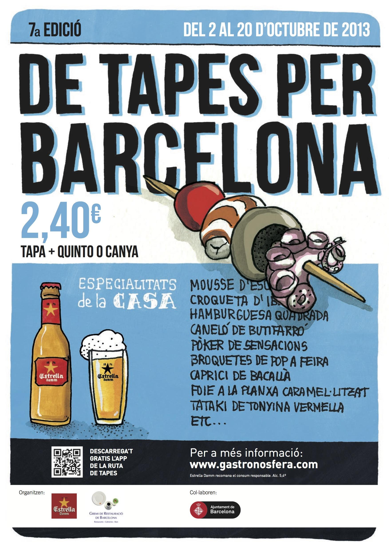 """""""De tapes per Barcelona"""": tapas por 2,40 euros en octubre"""